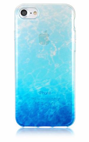 商品画像「グラデーションで海をデザインしたクリアスマホケース」