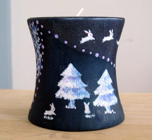 商品画像「クリスマスうさぎキャンドルホルダー」