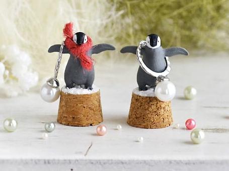 商品画像「ペンギンスタンド+指輪のクリスマス限定セット」